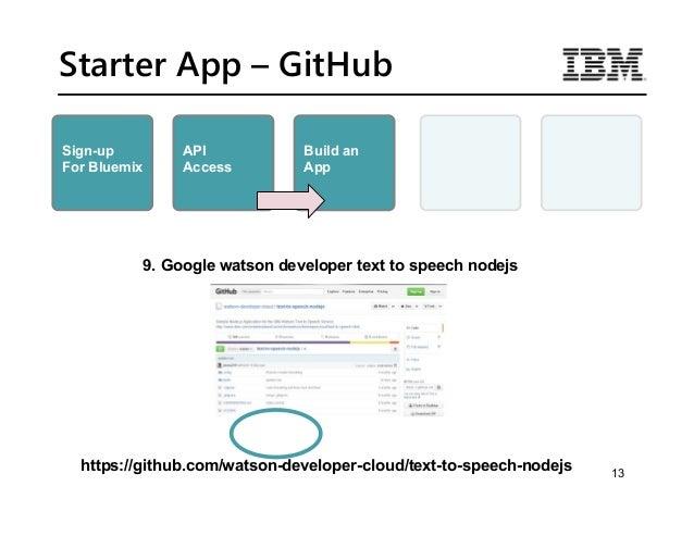 IBM Bootcamp - Text to Speech API Lab