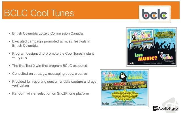 BCLC Cool Tunes • British Columbia Lottery Commission Canada  • Executed campaign promoted at music festivals in British C...