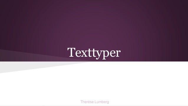 Texttyper Therése Lumberg