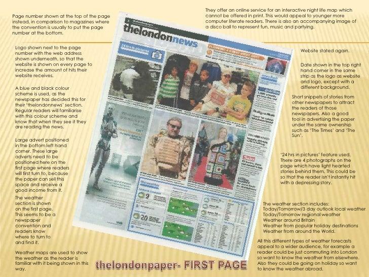 comparing newspaper articles