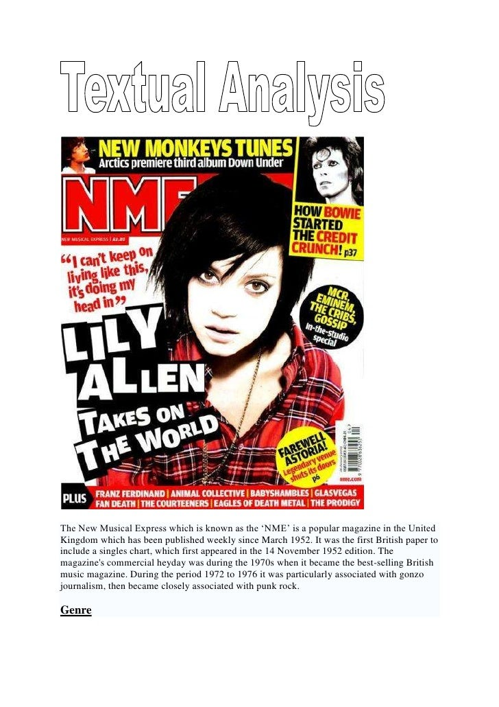 The New Musical Express which is known as the 'NME' is a popular magazine in the United Kingdom which has been published w...