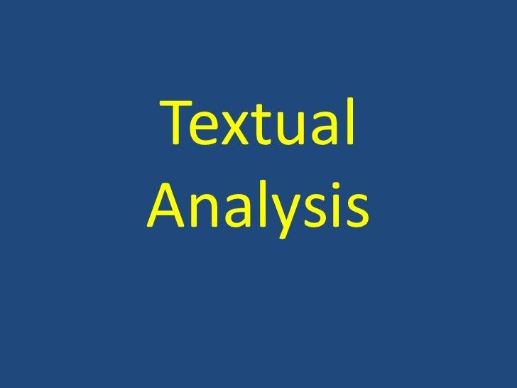 TextualAnalysis