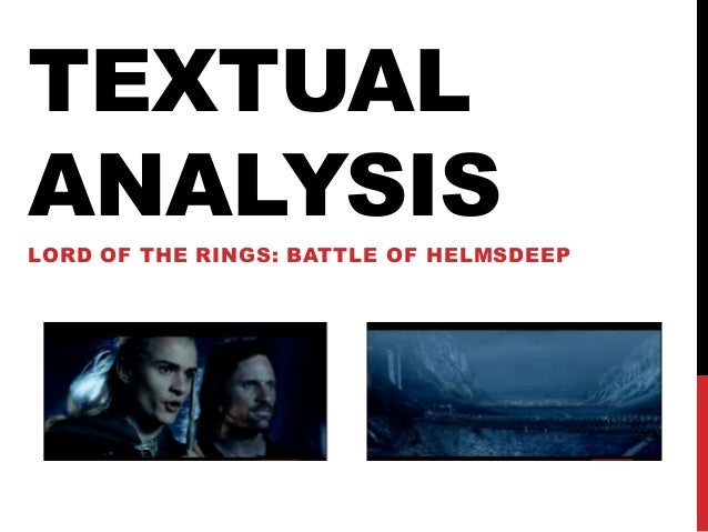 An analysis of lord of the rings