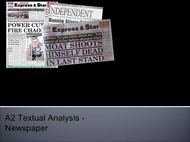 Tia Campbell A2 Textual Analysis - Newspaper