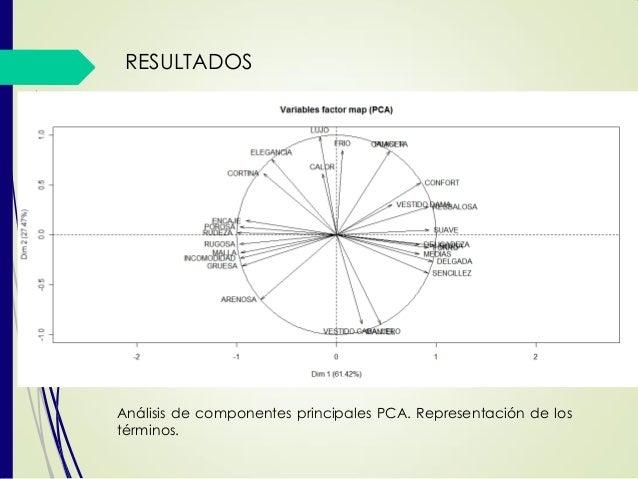 RESULTADOS Análisis de componentes principales PCA. Representación de los términos.
