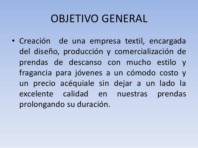 Proyect textyle for Objetivo general de un vivero