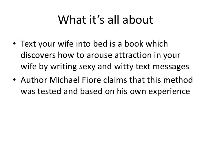 ways to arouse your wife
