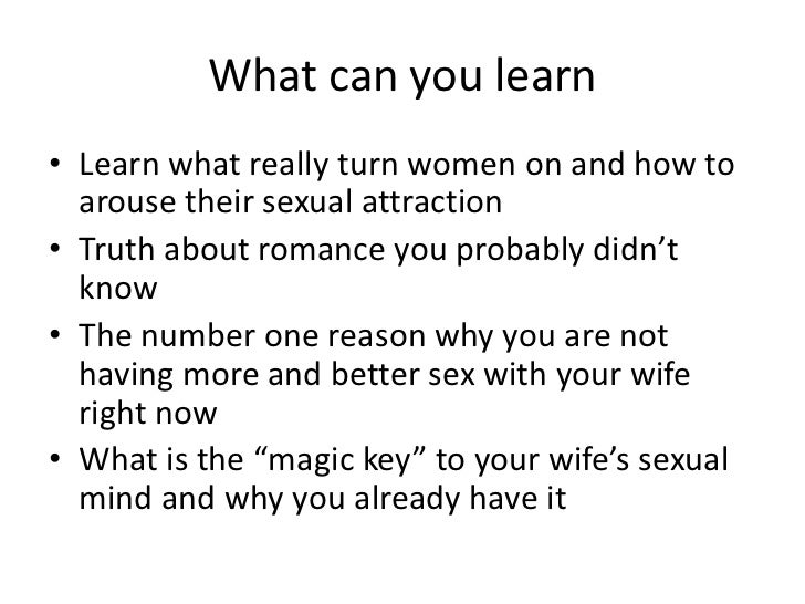 Sexually arouse your woman