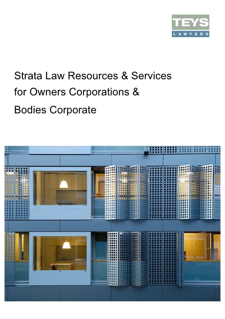 Strata Law Resources & Servicesfor Owners Corporations &Bodies Corporate
