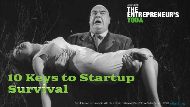 10 Keys to Startup Survival Tor Johnson as a zombie with his victim in cult movie Plan 9 from Outer Space (1959). wikipedi...