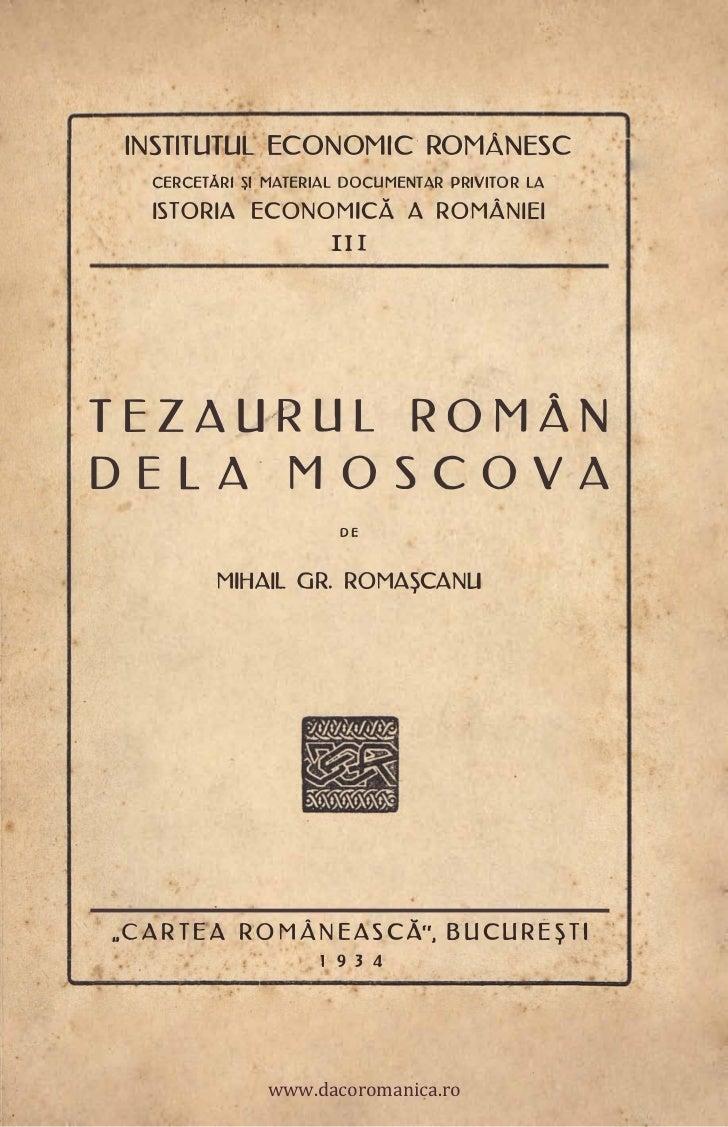 INSTITUTUL ECONOMIC ROMÂNESC   CERCETĂRI $1 MATERIAL DOCUMENTAR PRIVITOR LA   ISTORIA ECONOMiCĂ A ROMÂNIEI                ...