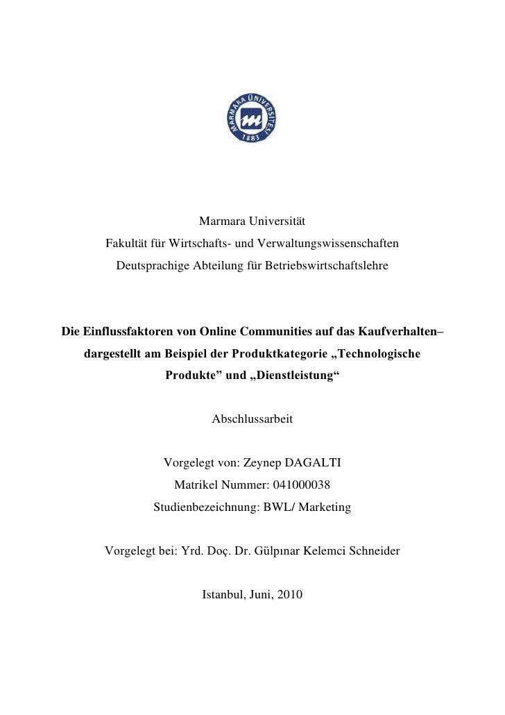 Marmara Universität       Fakultät für Wirtschafts- und Verwaltungswissenschaften         Deutsprachige Abteilung für Betr...
