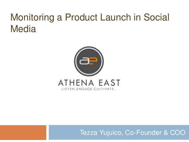 Tezza Yujuico, Co-Founder & COO Monitoring a Product Launch in Social Media