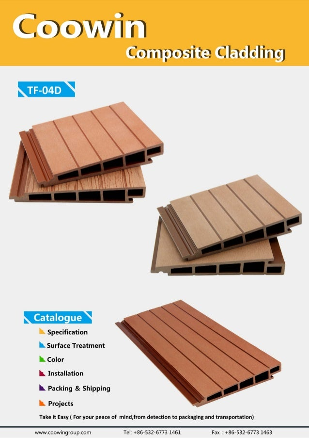 TF-04D Outdoor WPC Wll Cladding