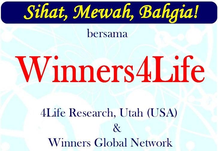 Winners Global Network 4Life Research, Utah (USA) & bersama