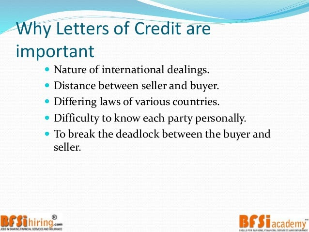 Trade Finance  Letter Of Credit