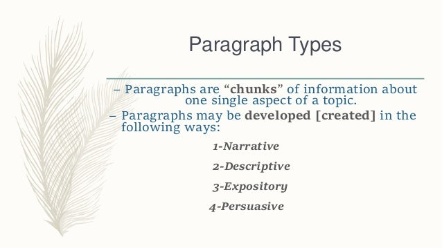 Paragraph Types and Ways to Write Them Slide 2