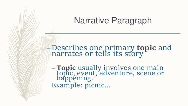 Paragraph Types and Ways to Write Them Slide 3