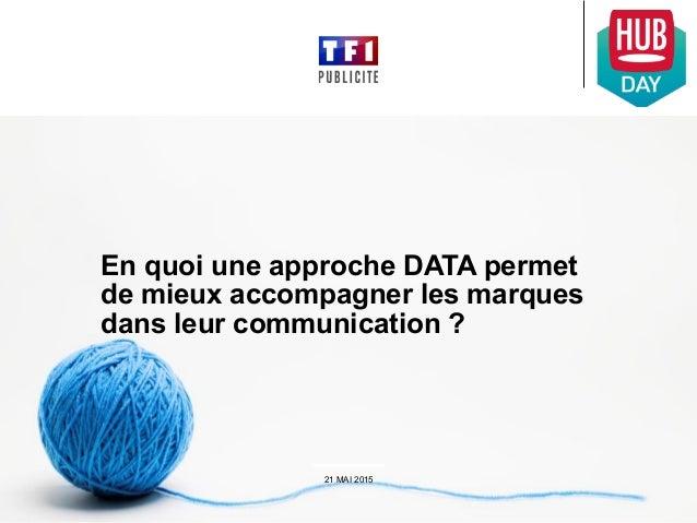 En quoi une approche DATA permet de mieux accompagner les marques dans leur communication ? 21 MAI 2015