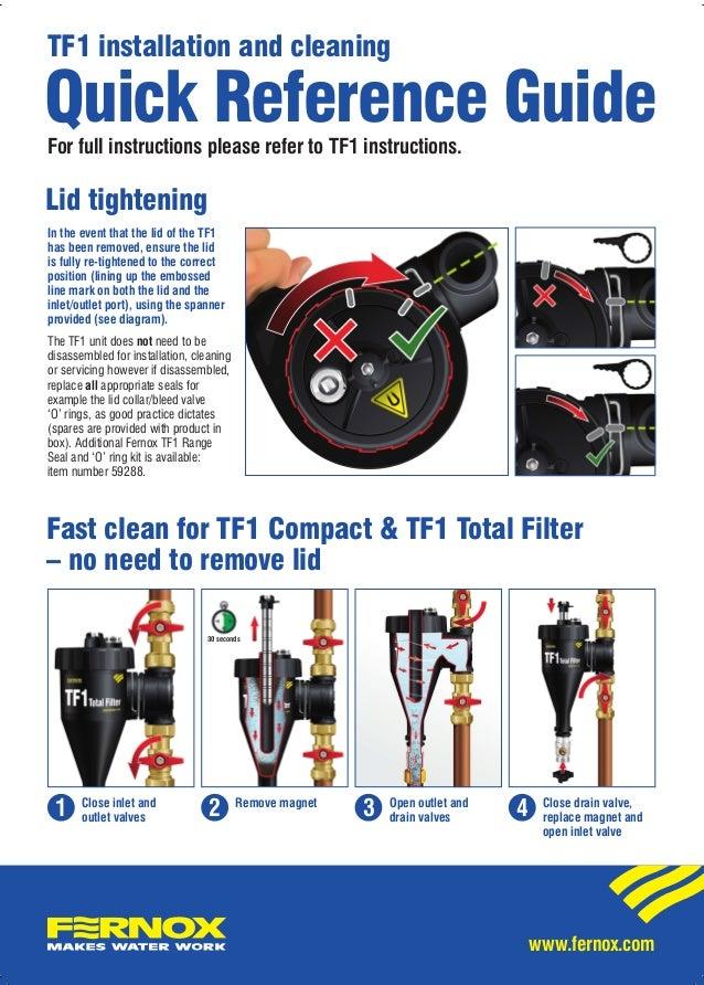 Fernox Tf1 Total Filter 22mm Installation Instructions