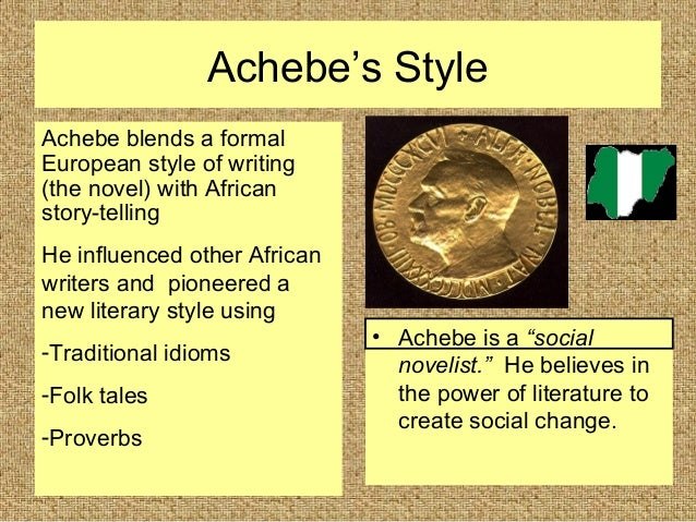 storytelling in achebe essay Our lives, our cultures, are composed of many overlapping stories novelist  chimamanda adichie tells the story of how she found her authentic cultural voice .