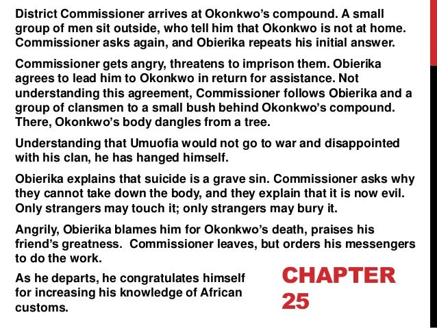 district commissioner things fall apart essay There are many dynamic characters in chinua achebe's famous novel 'things fall apart,' and one of those fascinating people is the district commissioner.
