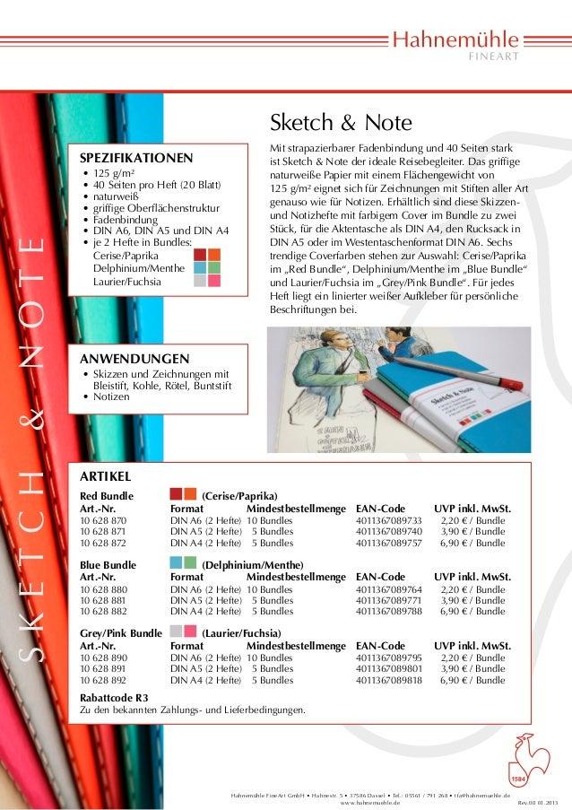 Sketch & Note                                                              Mit strapazierbarer Fadenbindung und 40 Seiten ...