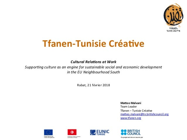 Tfanen-TunisieCréa.ve   CulturalRela*onsatWork Suppor&ngcultureasanengineforsustainablesocialandeconomic...