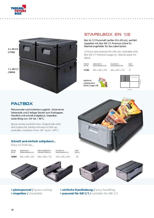 60 x 40 x 9 cm expandiertes Polypropylen Schwarz EPP Thermo Future Box K/ühlaufsatz GN 1//1 Premium