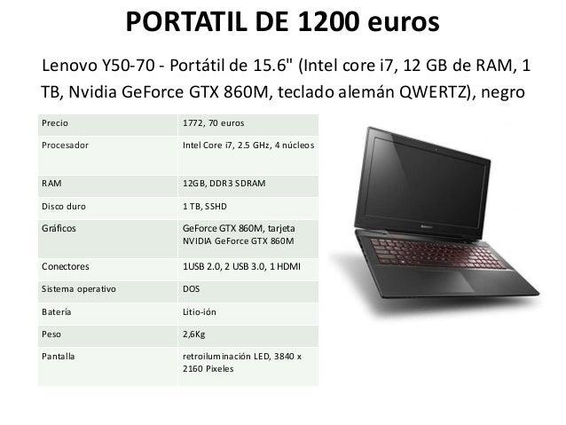 """PORTATIL DE 1200 euros Lenovo Y50-70 - Portátil de 15.6"""" (Intel core i7, 12 GB de RAM, 1 TB, Nvidia GeForce GTX 860M, tecl..."""