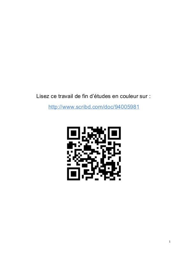 Lisezcetravaildefind'étudesencouleursur: http://www.scribd.com/doc/94005981  1