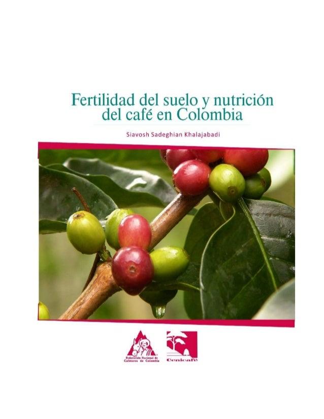 FERTILIDAD DEL SUELO Y NUTRICIÓN DEL CAFÉ EN COLOMBIA Siavosh Sadeghian Khalajabadi∗  ∗  Investigador Científico II. Suelo...