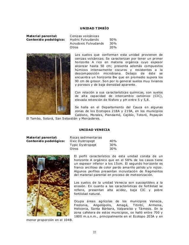 Unidades suelo region cafetera colombiana - Materiales para suelos ...
