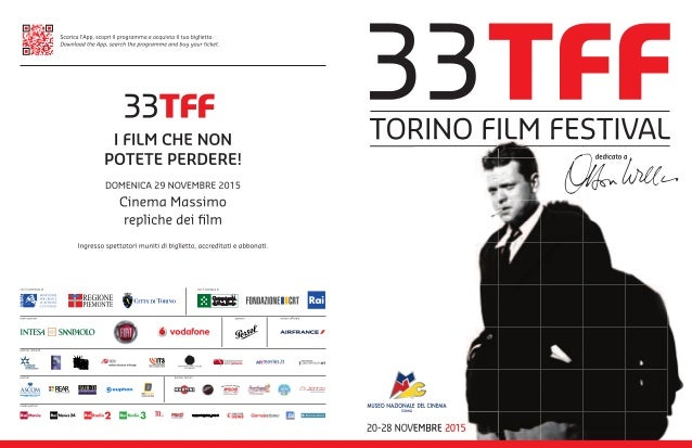 Programma Torino Film Festival 2015 #TFF33