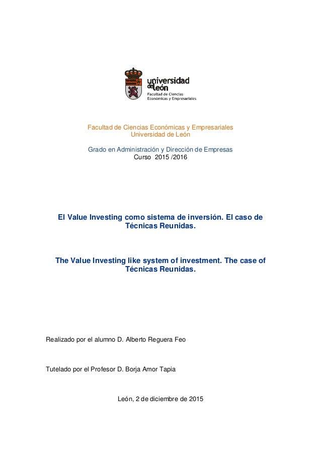 Facultad de Ciencias Económicas y Empresariales Universidad de León Grado en Administración y Dirección de Empresas Curso ...