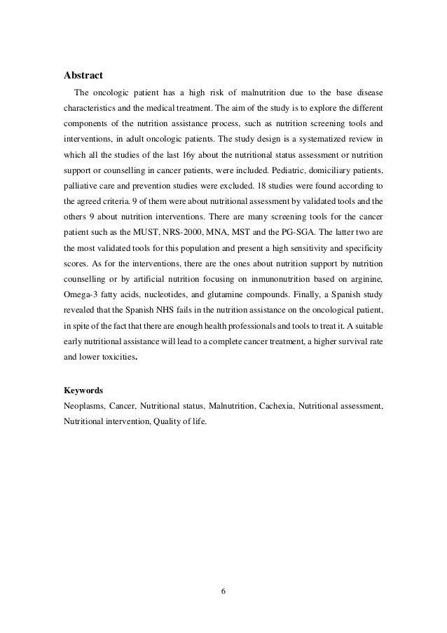 ASISTENCIA NUTRICIONAL EN EL PACIENTE ONCOLÓGICO