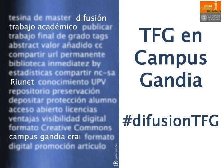 TFG en Campus Gandia#difusionTFG