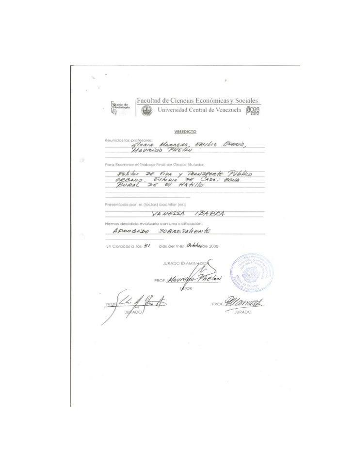 UNIVERSIDAD CENTRAL DE VENEZUELA       FACULTAD DE CIENCIAS ECONÓMICAS Y SOCIALES                 ESCUELA DE SOCIOLOGÍA   ...