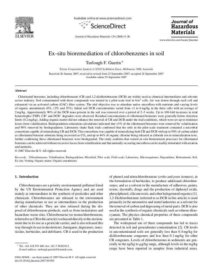 Available online at www.sciencedirect.com                                                     Journal of Hazardous Materia...