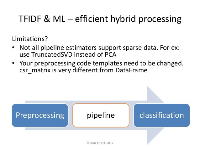 TFIDF and Machine Learning – efficient hybrid processing
