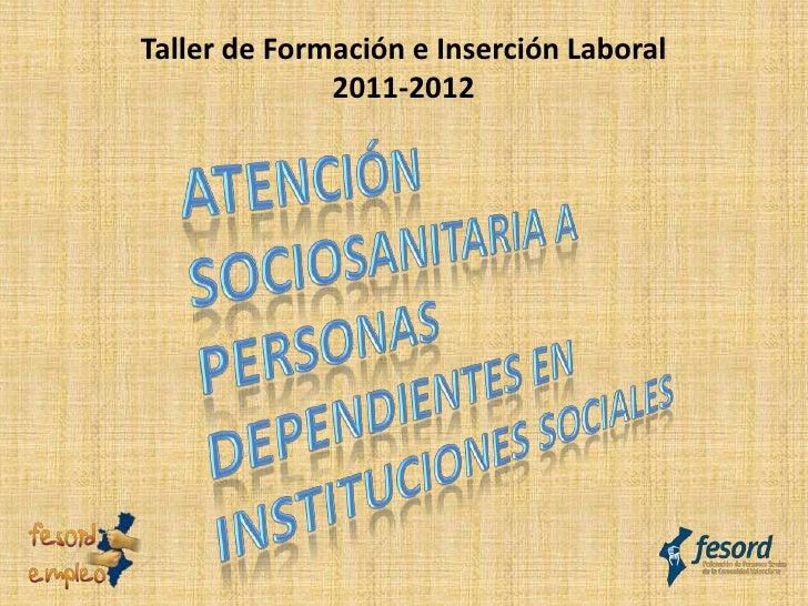Taller de Formación e Inserción Laboral              2011-2012