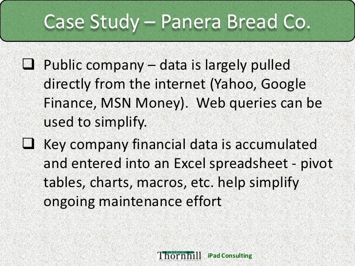 panera bread company case study executive summary Free case study solution & analysis  don't waste it in searching for other websites for case study solution  walton seed company new entries.