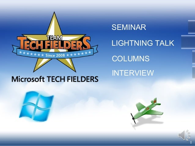 1 SEMINAR COLUMNS INTERVIEW LIGHTNING TALK