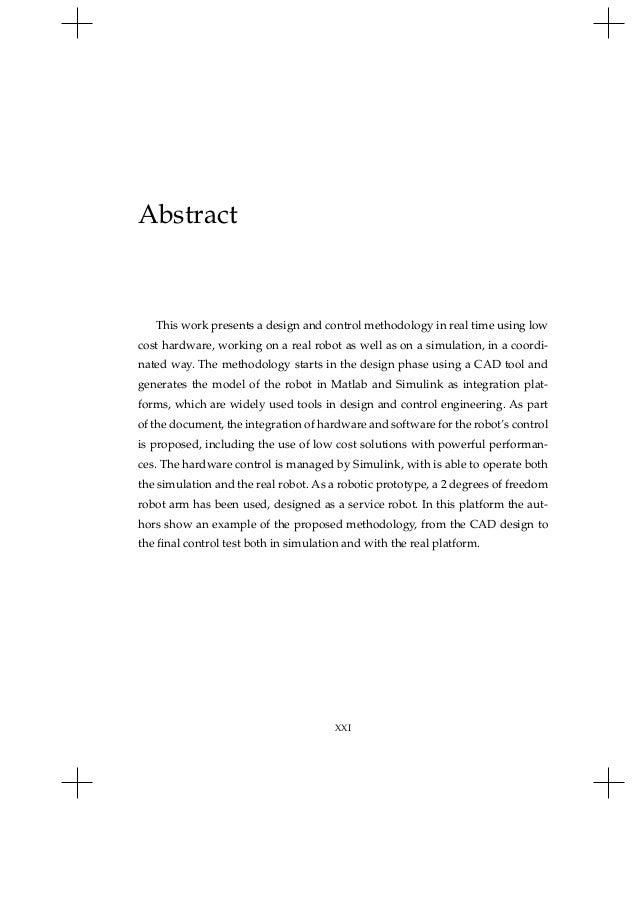 simmechanics master thesis