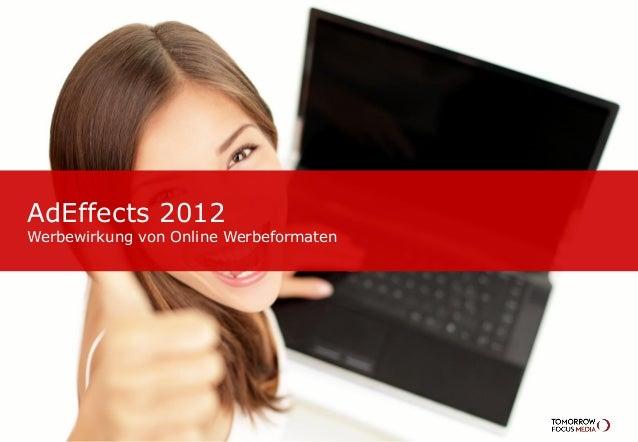 AdEffects 2012Werbewirkung von Online Werbeformaten