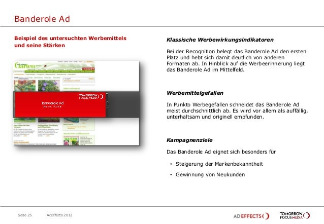 Banderole AdBeispiel des untersuchten Werbemittels   Klassische Werbewirkungsindikatorenund seine Stärken                 ...