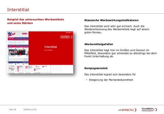 InterstitialBeispiel des untersuchten Werbemittels   Klassische Werbewirkungsindikatorenund seine Stärken                 ...