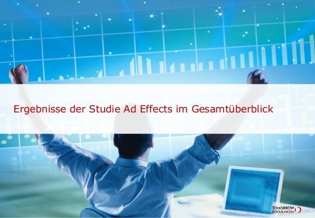 Ergebnisse der Studie Ad Effects im Gesamtüberblick
