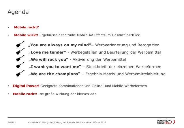 Mobile Ad Effects 2012 - Die große Wirkung der kleinen Ads Slide 2