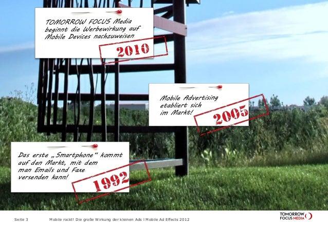 Mobile Ad Effects 2012 - Die große Wirkung der kleinen Ads Slide 3